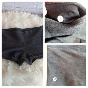lululemon athletica Shorts - Lululemon Boogie Short  Heathered Black
